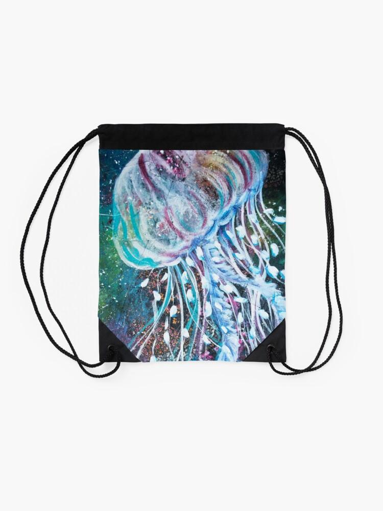 Vista alternativa de Mochila saco Espacio Medusas florales