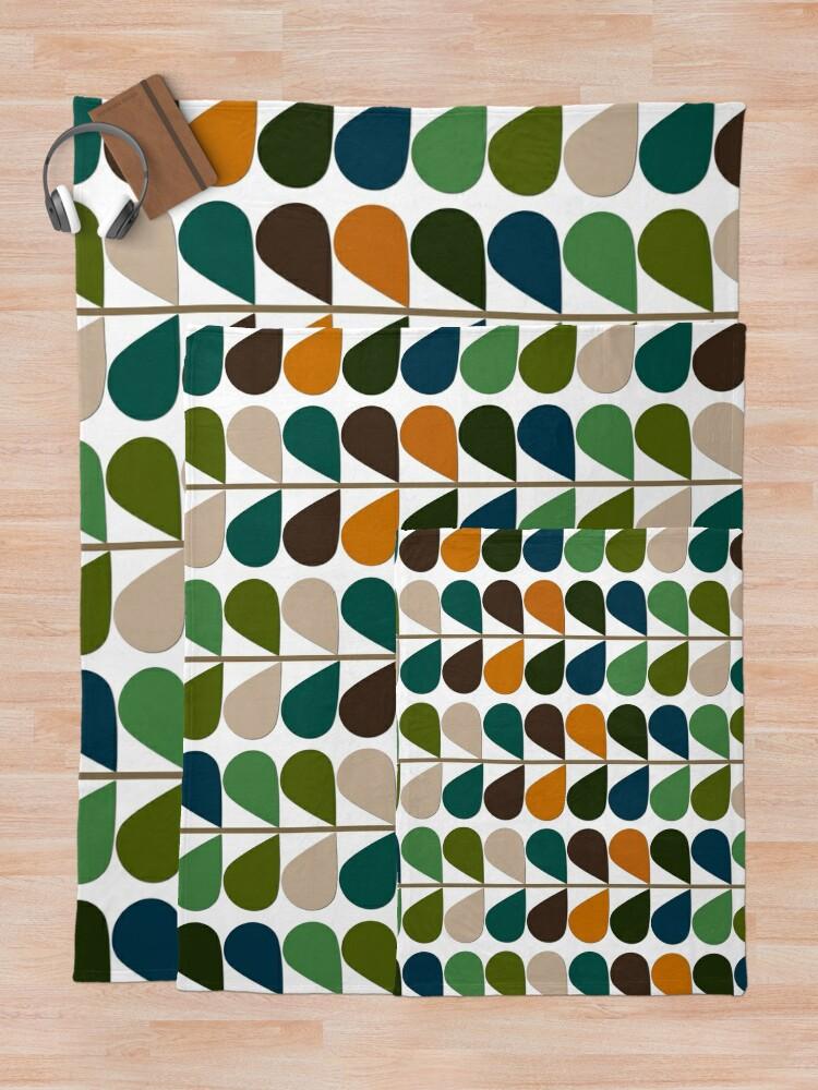 Alternate view of Retro 60s Mid Century Modern Pattern 2 Throw Blanket