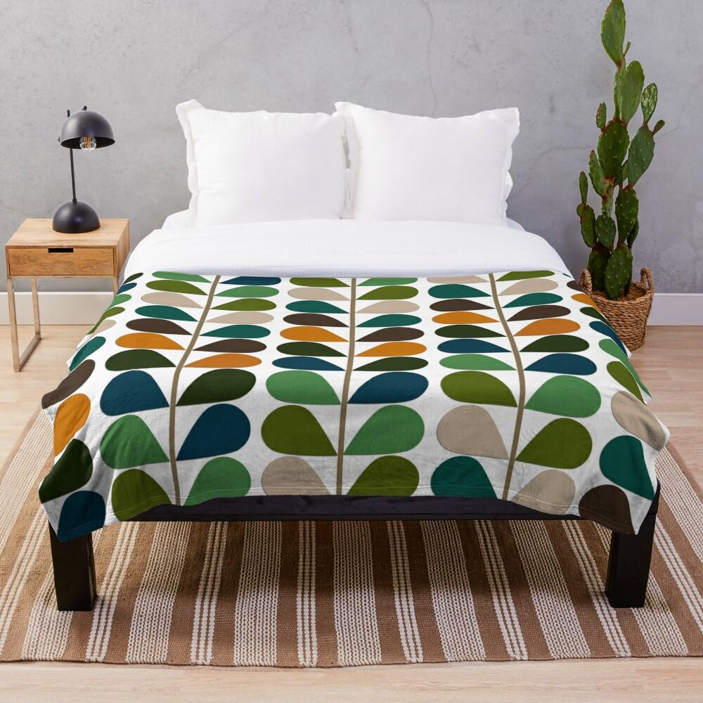Retro 60s Mid Century Modern Pattern 2 Throw Blanket