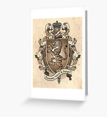 Tiger Coat Of Arms Heraldry Greeting Card