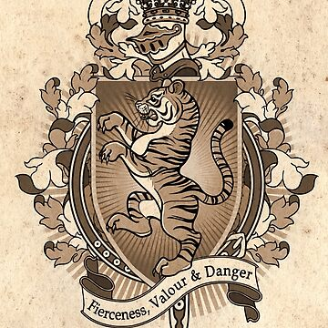 Tiger Coat Of Arms Heraldry by helloheath
