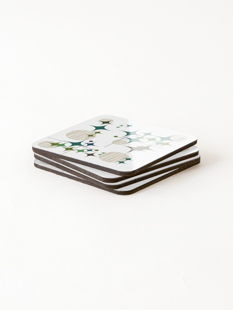 Alternate view of Eames Era Starbursts and Globes Coasters (Set of 4)