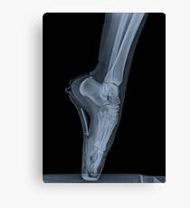 x-ray of a ballet dancer standing on pointe  Canvas Print