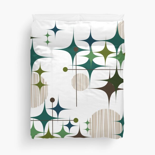 Eames Era Starbursts and Globes Duvet Cover
