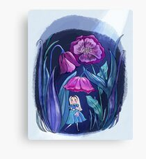 Alice through the Flowers Canvas Print