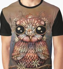 little rainbow flower owl Graphic T-Shirt