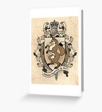 Fox Coat Of Arms Heraldry Greeting Card