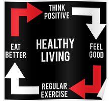 Healthy Living Diagram Posters By Matt Chan