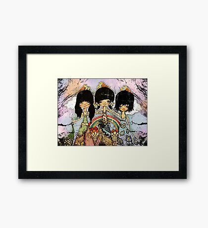 hippy chicks Framed Print