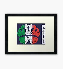 Giro Profile Framed Print
