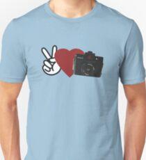 Peace, Love, Holga T-Shirt