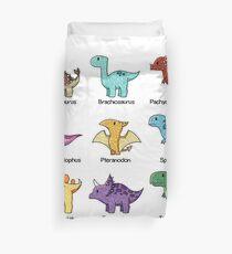 Dinosaur Chart Duvet Cover