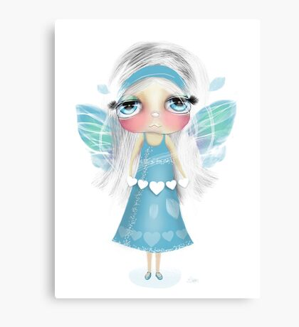 paper hearts and pretty wings Canvas Print