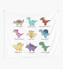 Dinosaur Chart Wall Tapestry