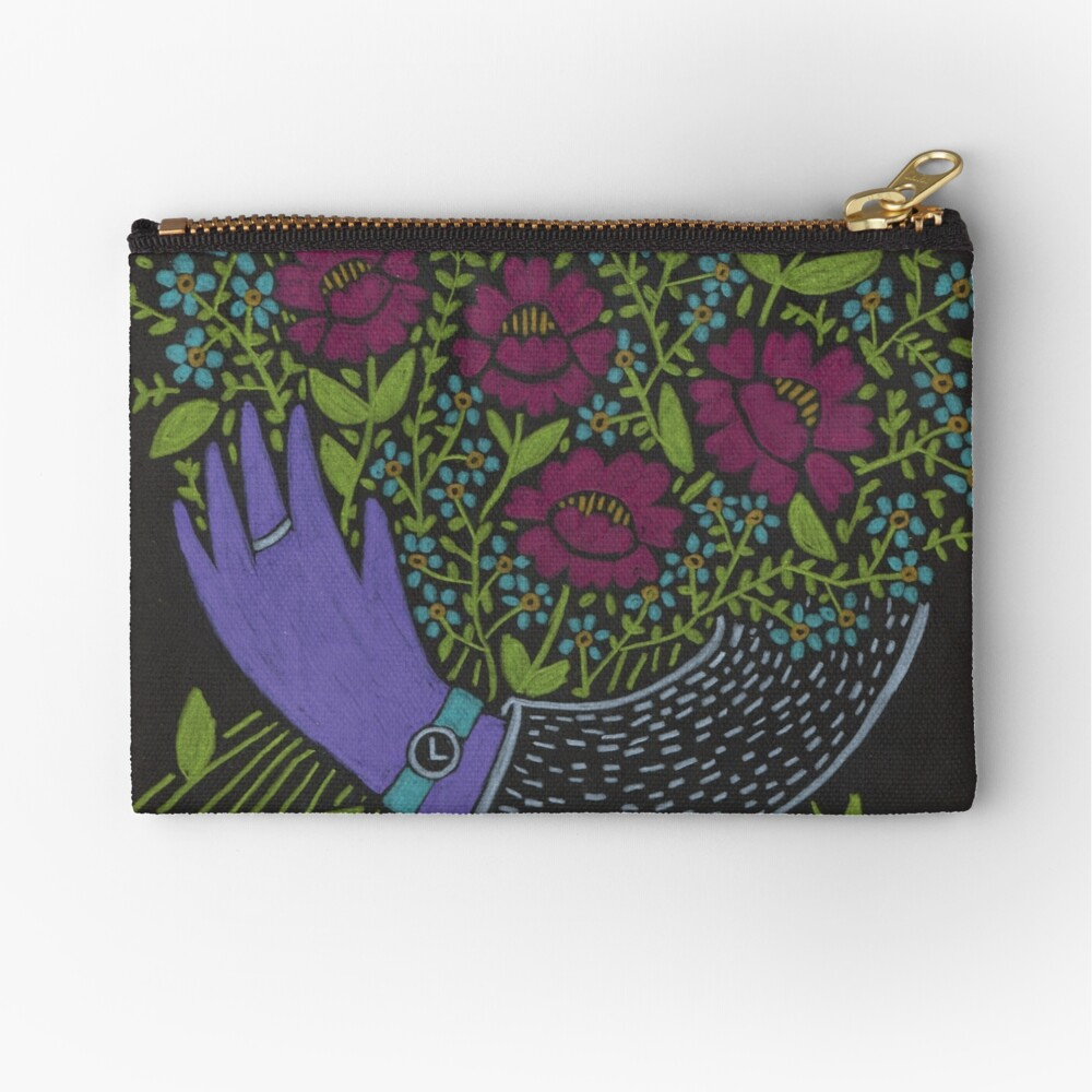 I Picked You These Flowers Zipper Pouch
