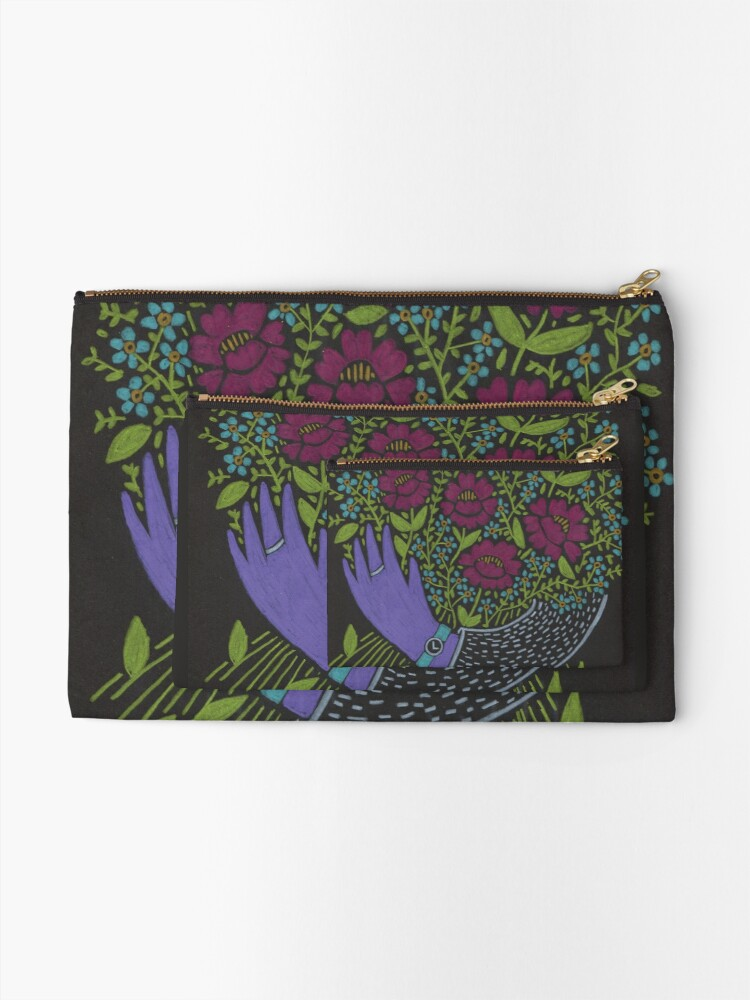 Alternate view of I Picked You These Flowers Zipper Pouch