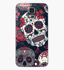 Sugar Skull Pattern Red Case/Skin for Samsung Galaxy