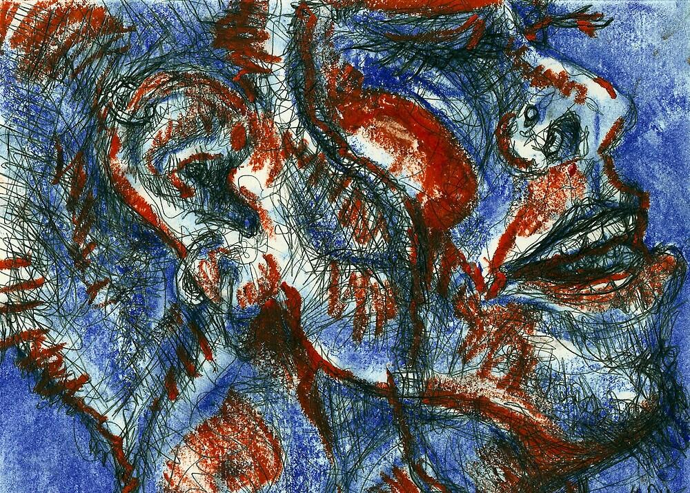 Exhalation Self-portrait (Mixed Media)- by Robert Dye