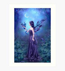 Iridescent Fairy & Dragon Art Print
