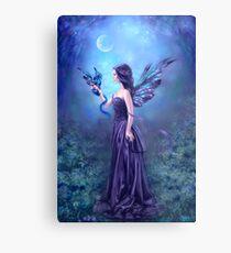 Iridescent Fairy & Dragon Metal Print