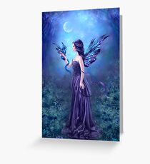 Iridescent Fairy & Dragon Greeting Card