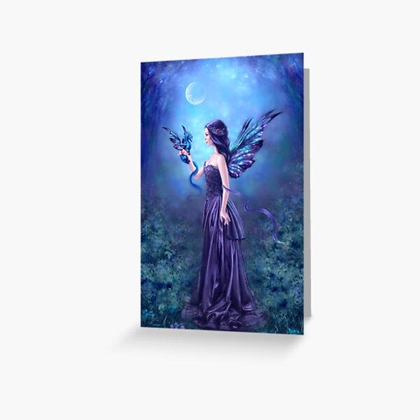 Iridescent Fairy & Dragon Greeting Card