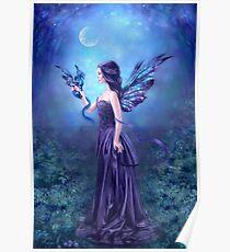 Iridescent Fairy & Dragon Poster