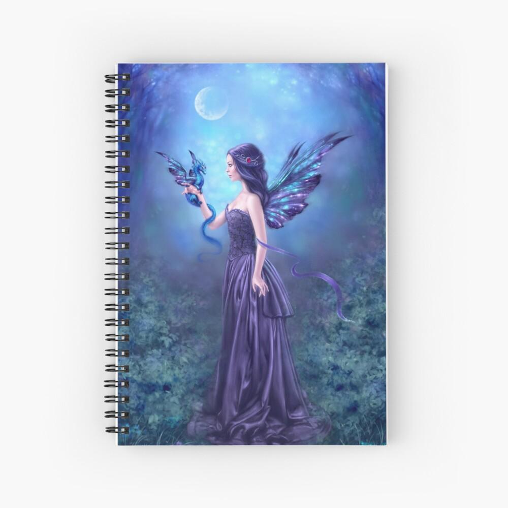 Iridescent Fairy & Dragon Spiral Notebook