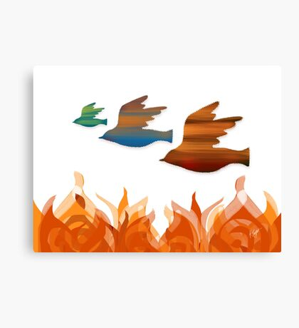 Fire Birds Canvas Print