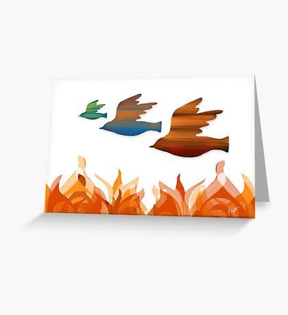 Fire Birds Greeting Card