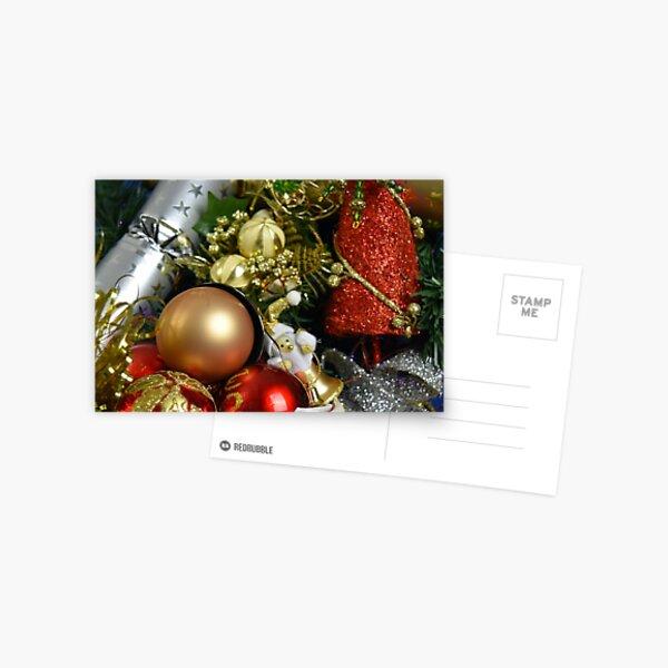 Christmas Baubles Postcard