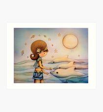 dolphin paradise Art Print