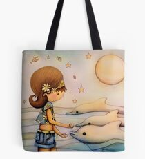 dolphin paradise Tote Bag