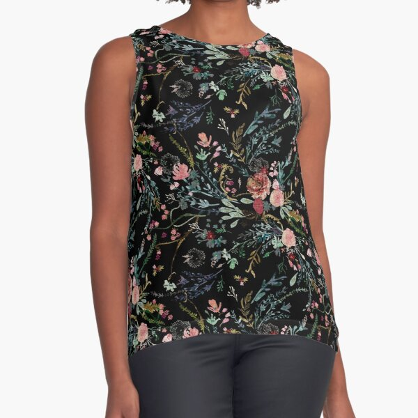 Midnight Floral Sleeveless Top