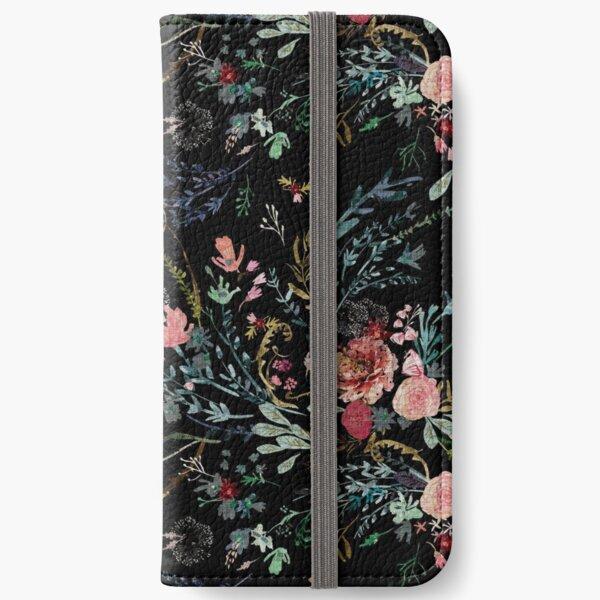 Mitternachtsblumen iPhone Flip-Case
