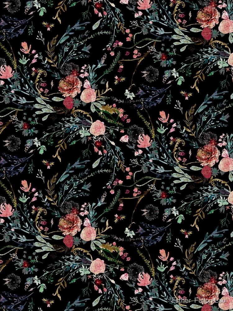 Mitternacht Blumen von nouveaubohemian