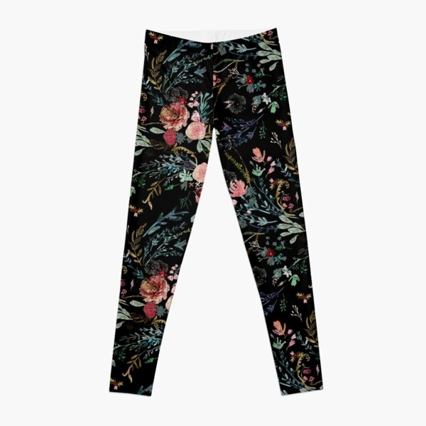 Floral de medianoche Leggings