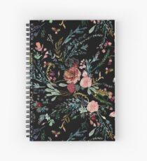 Cuaderno de espiral Medianoche floral