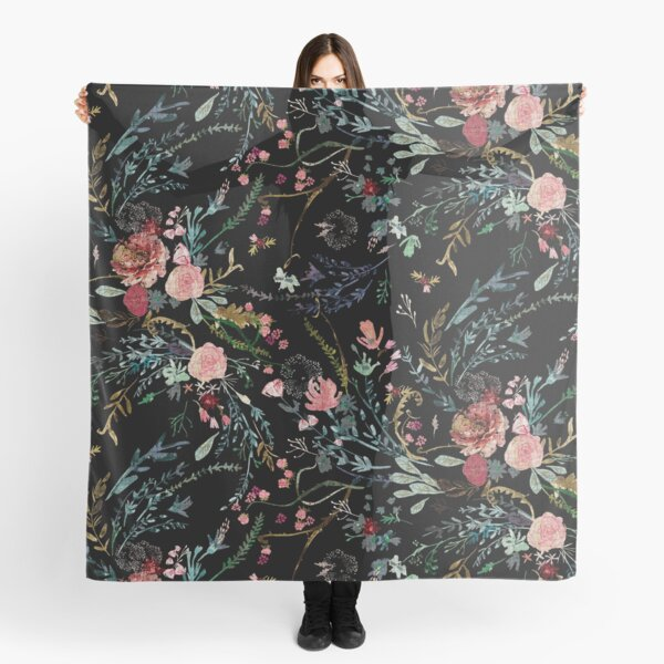 Midnight Floral Scarf
