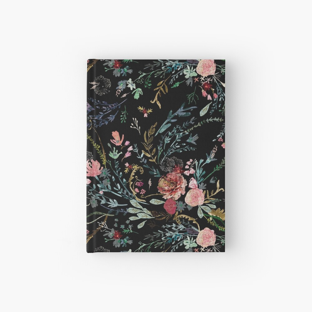 Midnight Floral Hardcover Journal