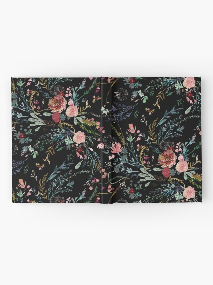 Alternate view of Midnight Floral Hardcover Journal