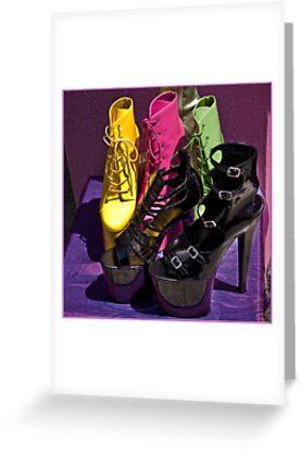 Fashionista footwear by Celeste Mookherjee