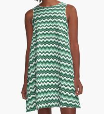 Mint Chevron A-Line Dress