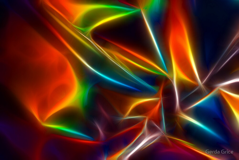 Shining from Shook Foil 3 by Gerda Grice