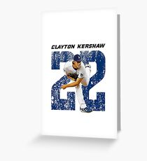 CLAYTON KERSHAW - LA Dodgers Greeting Card