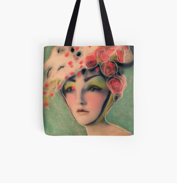 Flowered Milinery All Over Print Tote Bag