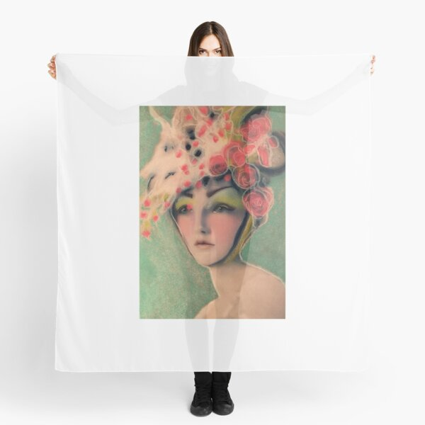 Flowered Milinery Scarf