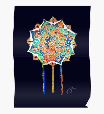 Midnight Mandala Poster