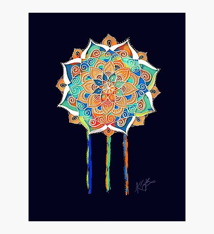 Midnight Mandala Photographic Print