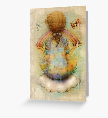 once upon a rainbow Greeting Card